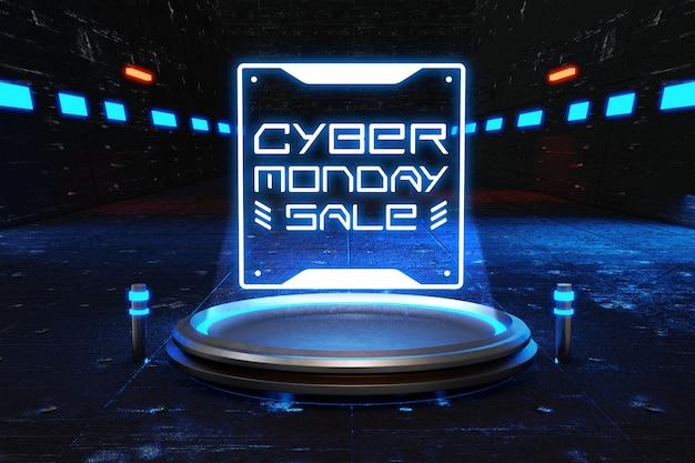 Maqueta de venta de cyber monday