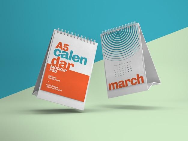 Maqueta vertical de calendario de escritorio