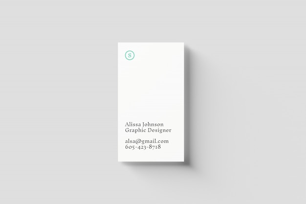Maqueta vertical de tarjetas de visita
