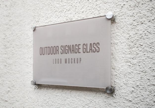 Maqueta de vidrio de señalización al aire libre