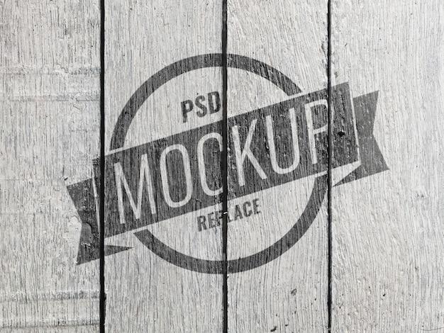 Maqueta vintage de pared de madera blanca
