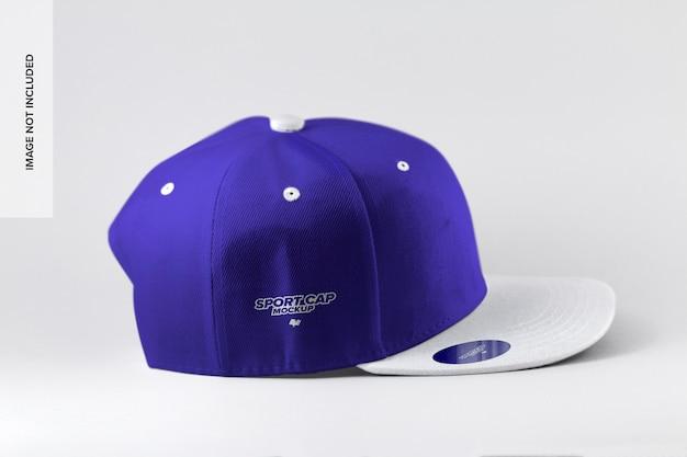 Maqueta de vista lateral de gorra deportiva