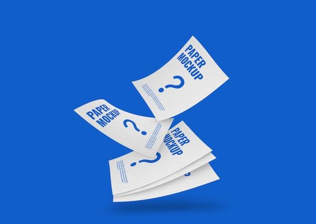 Maqueta de volante de hoja de papel