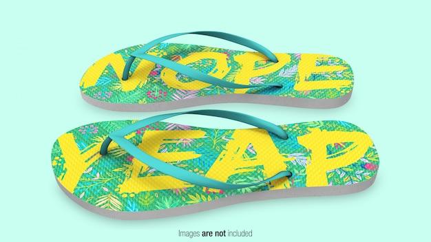 Maqueta de zapatillas flip flop