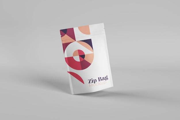 Maquetas de bolsas con cremallera realistas, útiles y elegantes