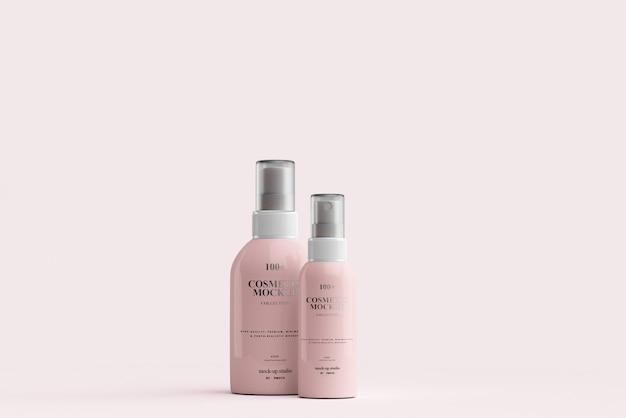 Maquetas de botellas de spray cosmético