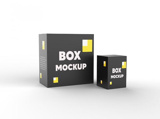 Maquetas de caja de paquete