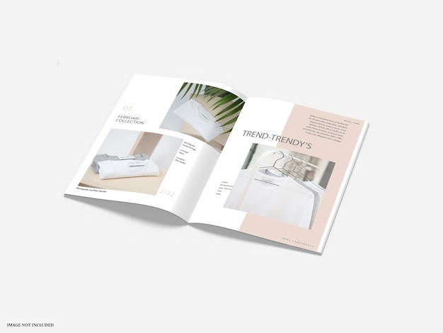 Maquetas de catálogo de folletos aislados