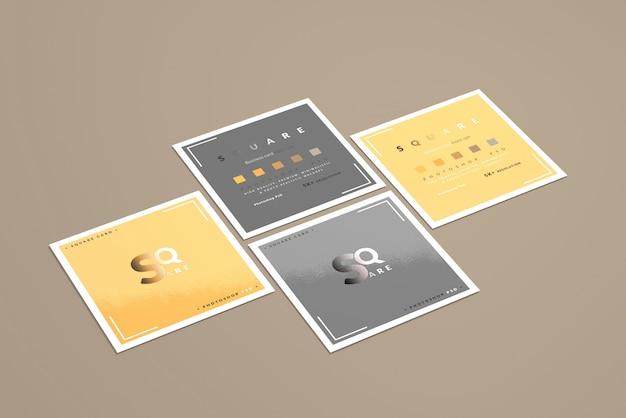Maquetas cuadradas de tarjetas de visita