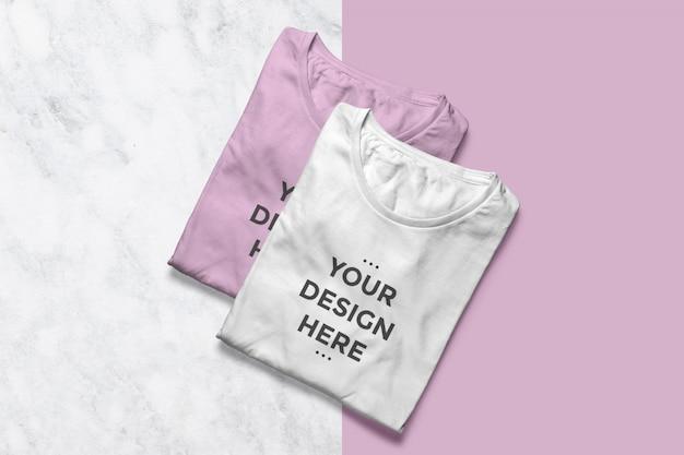 Maquetas de escaparate de camisetas limpias