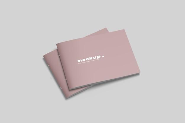 Maquetas de folletos de paisaje aislado