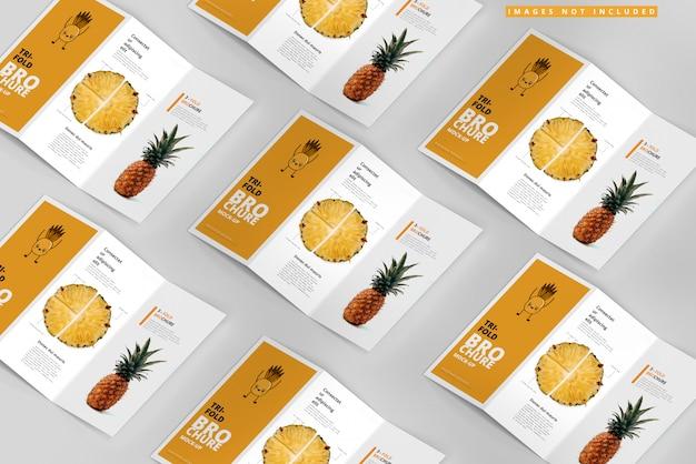 Maquetas de folletos triples