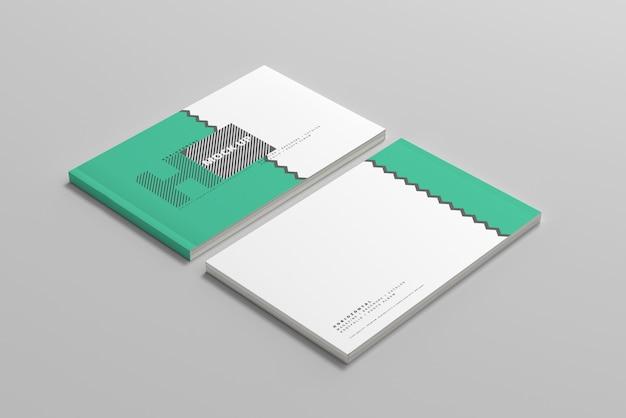 Maquetas horizontales de portadas de revistas