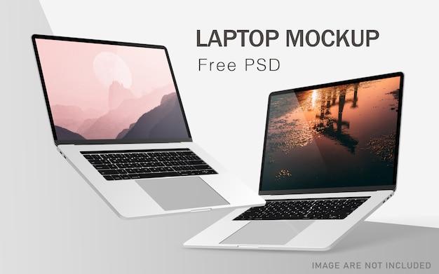Maquetas de laptop pro premium con psd gratis de alta resolución