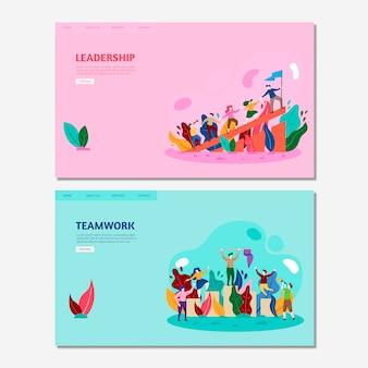 Maquetas de páginas de destino de negocios