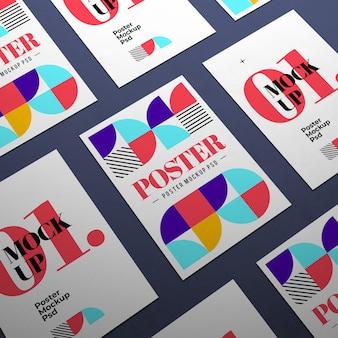 Maquetas de póster de tamaño a4