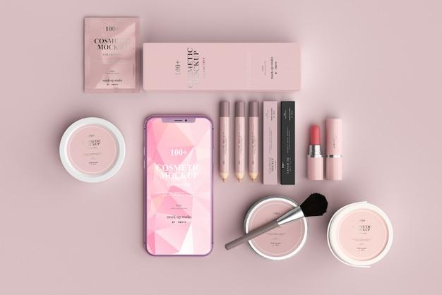 Maquetas de productos cosméticos