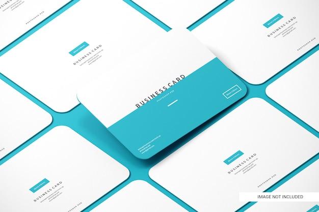 Maquetas de tarjetas de negocios redondeadas