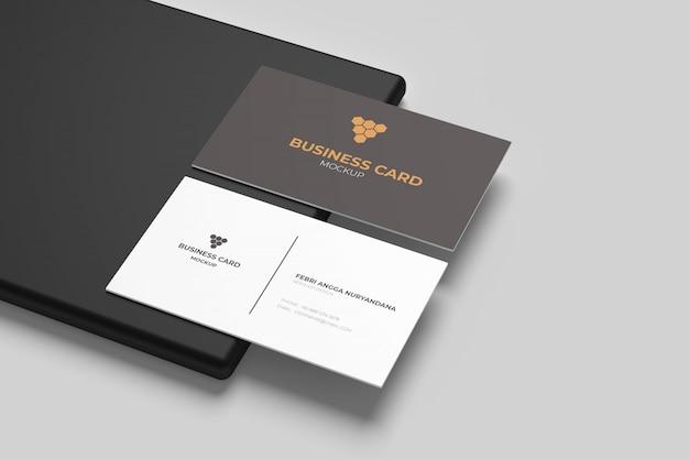 Maquetas de tarjetas de visita en la base