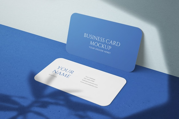 Maquetas de tarjetas de visita horizontales personalizables de esquina redondeada de 90x50 mm