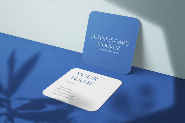 Maquetas de tarjetas de visita con textura editables corporativas de tamaño cuadrado simple y elegante