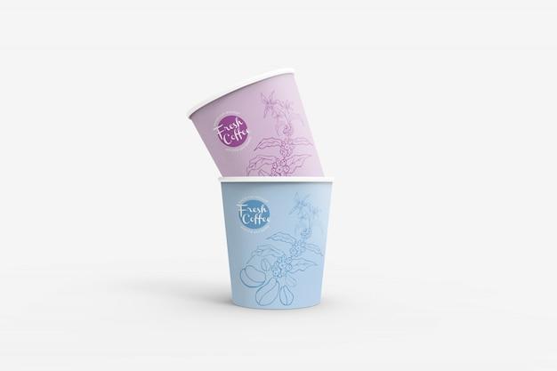 Maquetas de vasos de papel