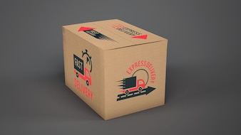 Maquete de caixa de entrega