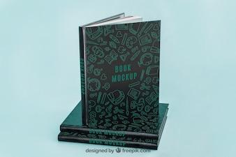 Maquete de capa de livro escuro