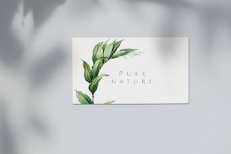Maquete de cartão de visita de natureza