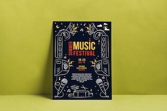 Maquete de cartaz do festival de música