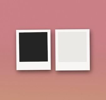 Maquete de fotos polaroid