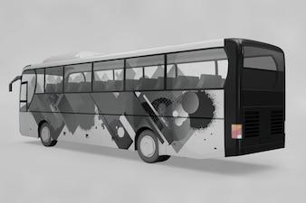 Maquete de ônibus