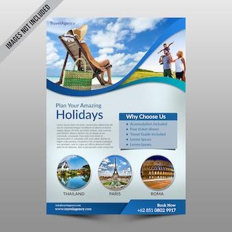 Maquete de panfleto de férias