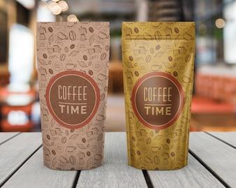 Maquete de sacos de café