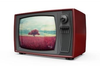 Maquete de tv retrô