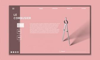Maquete do site moderno