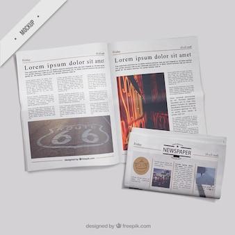Maquetes de jornais