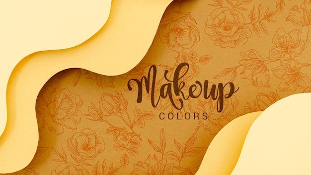Maquillaje de colores de fondo con flores