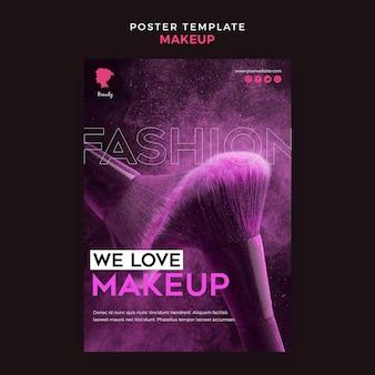 Maquillaje concepto de plantilla de cartel