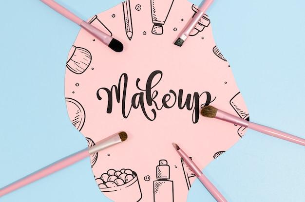 Maquillaje de fondo con letras