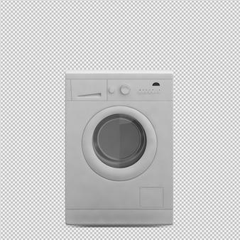 Máquina de lavandería isométrica render 3d