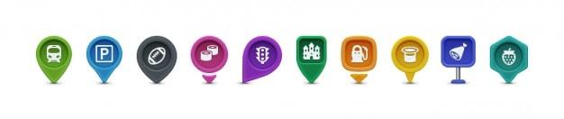 Marcadores de mapa con iconos dentro