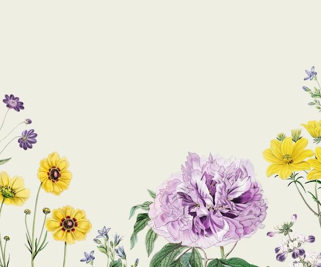 Marco de flores