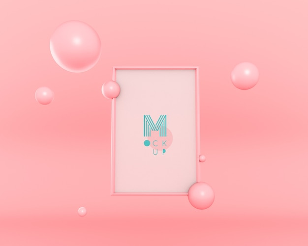 Marco flotante de burbujas 3d