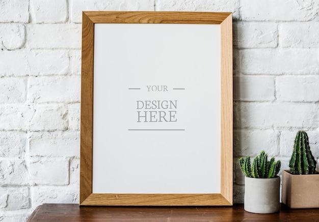 Marco de fotos de espacio de diseño