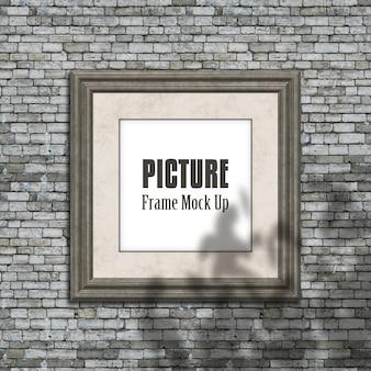 Marco de imagen editable simulado con superposición de sombra borrosa