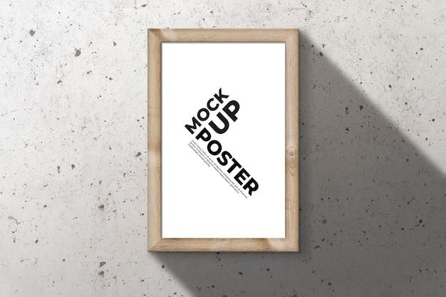 Marco de madera para maqueta de póster.