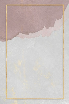 Marco de oro rectangular en la ilustración de fondo de textura
