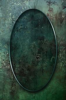 Marco ovalado en la ilustración de fondo abstracto