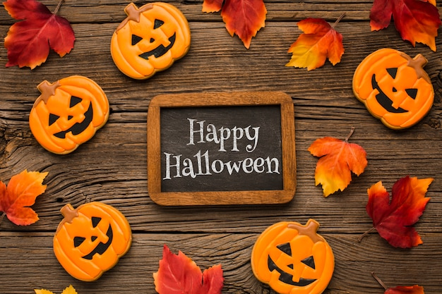 Marco y pizarra para el día de halloween